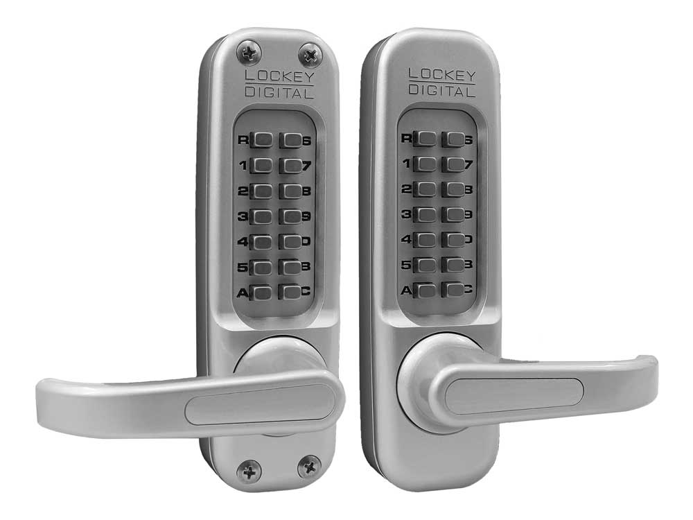 Lockey 1150DC Heavy-Duty Passage Lever-Handle Latchbolt Double-Keypad Lock