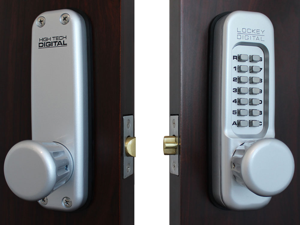 Lockey 1600 Heavy-Duty Passage Knob-Handle Latchbolt Keypad Lock - Click Image to Close