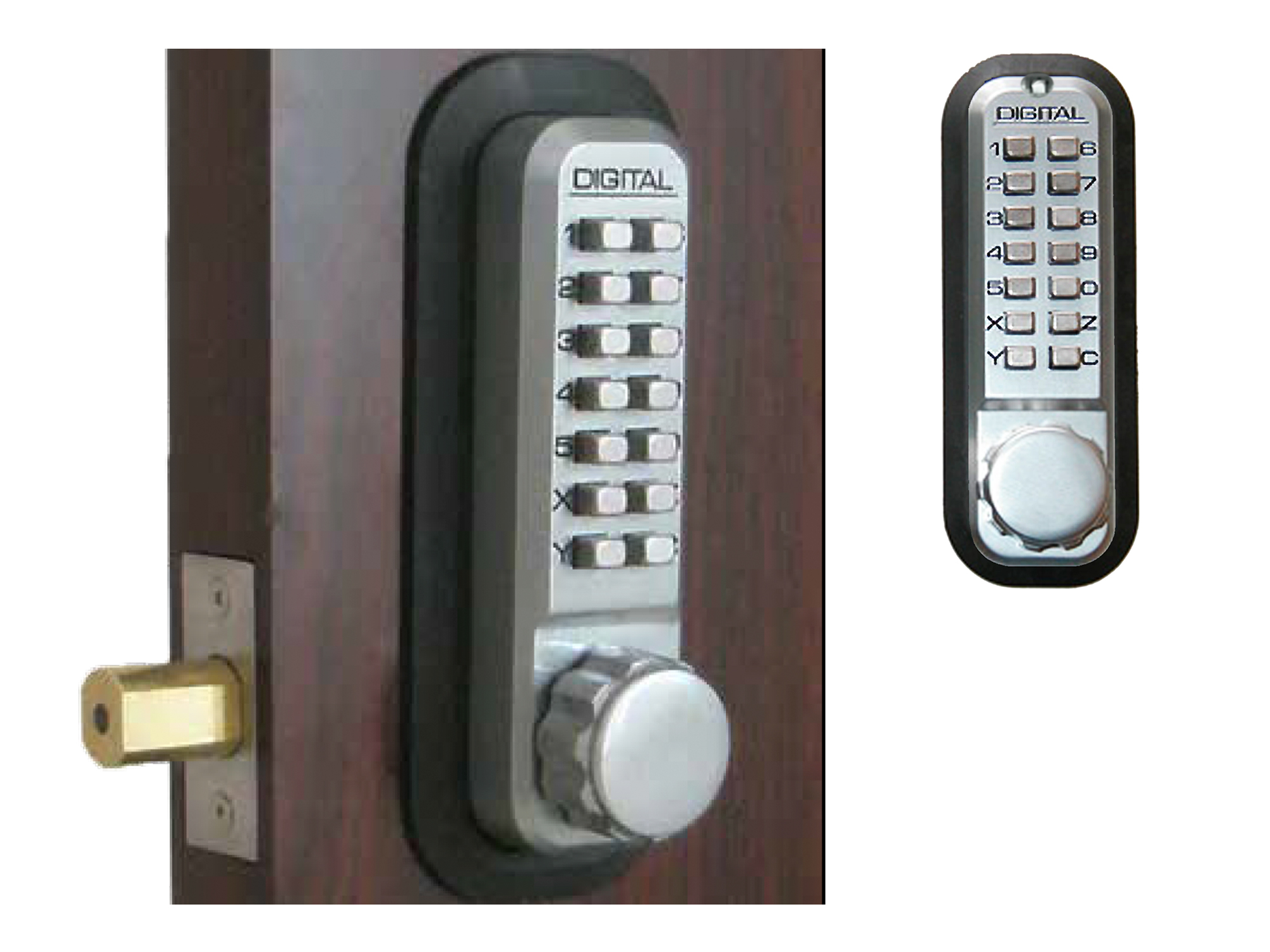 Lockey 2210DC Deadbolt Double-Keypad Lock - Click Image to Close