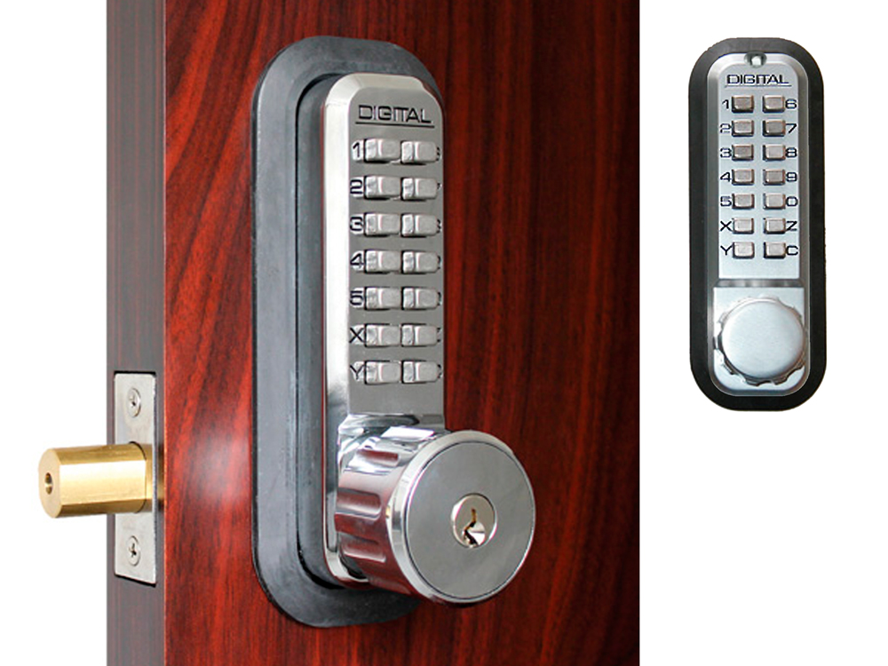Lockey 2210DCKO Deadbolt Double-Keypad Lock with Key Override