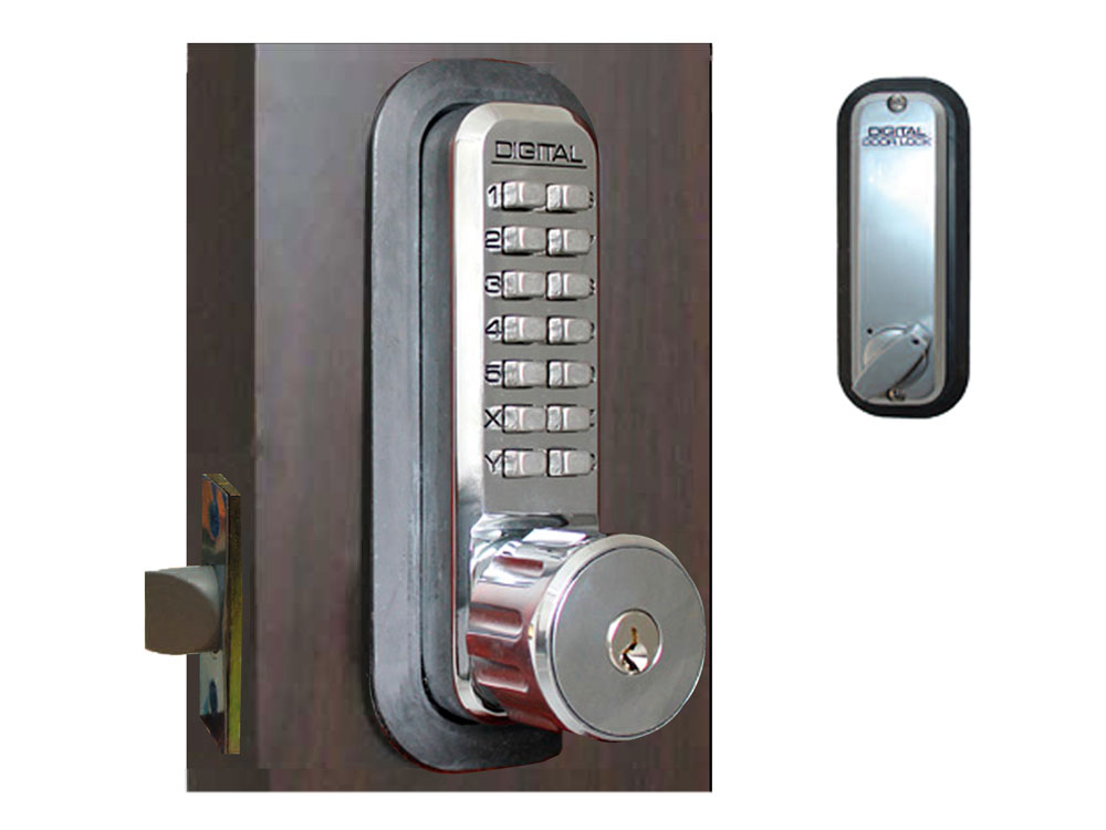 Lockey 2230KO Latchbolt Keypad Lock with Key Override