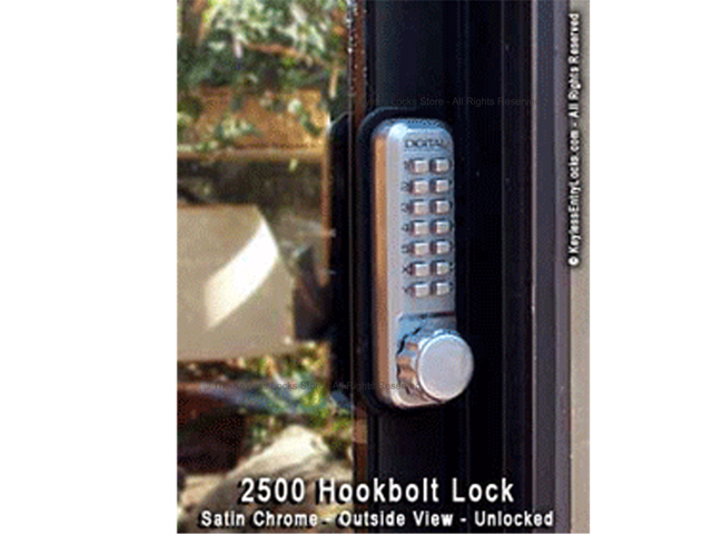 Lockey 2500 Surface-Mount Hookbolt Keypad Lock - Click Image to Close