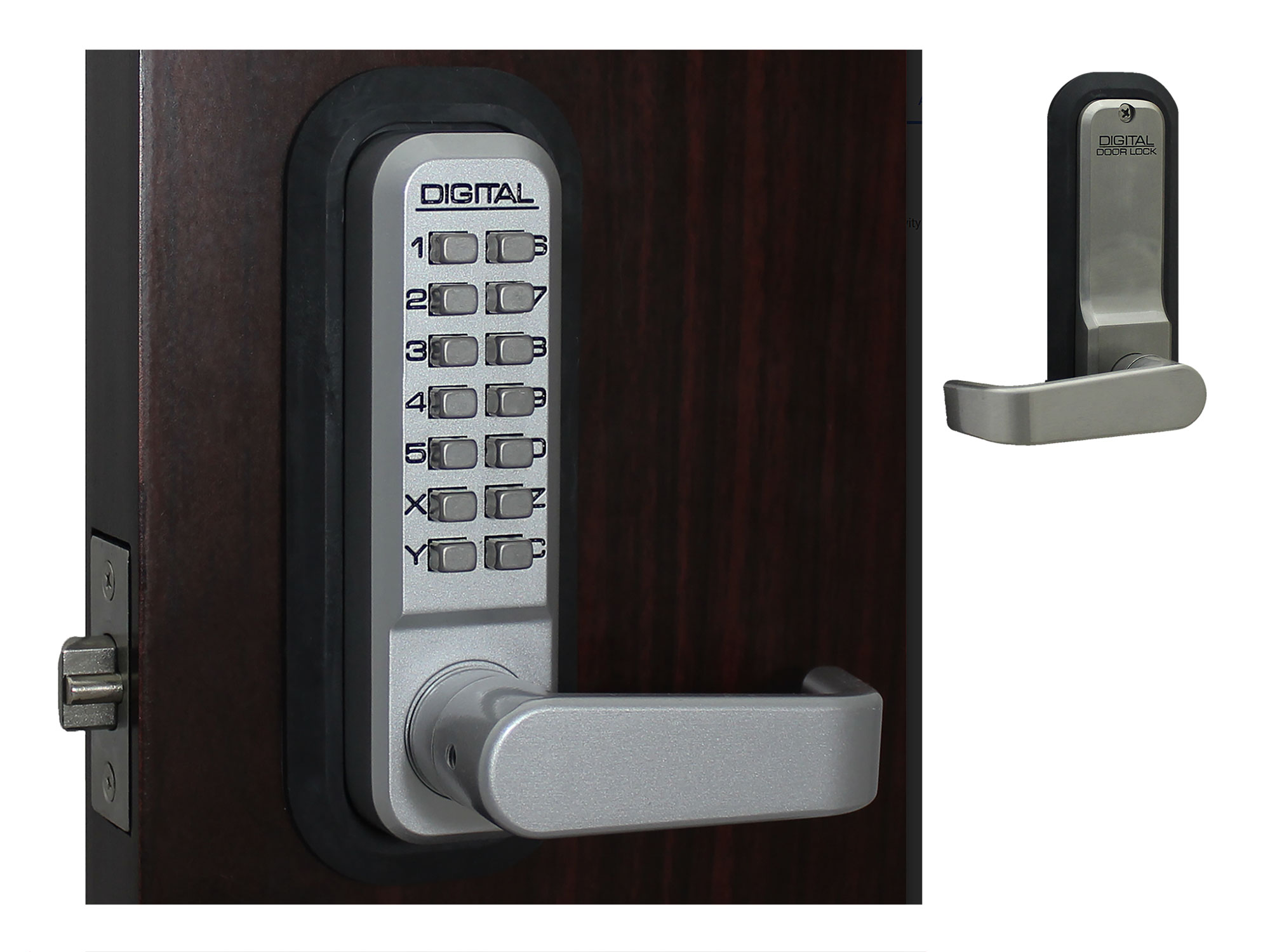 Lockey 2835 Passage Lever-Handle Latchbolt Keypad Lock - Click Image to Close