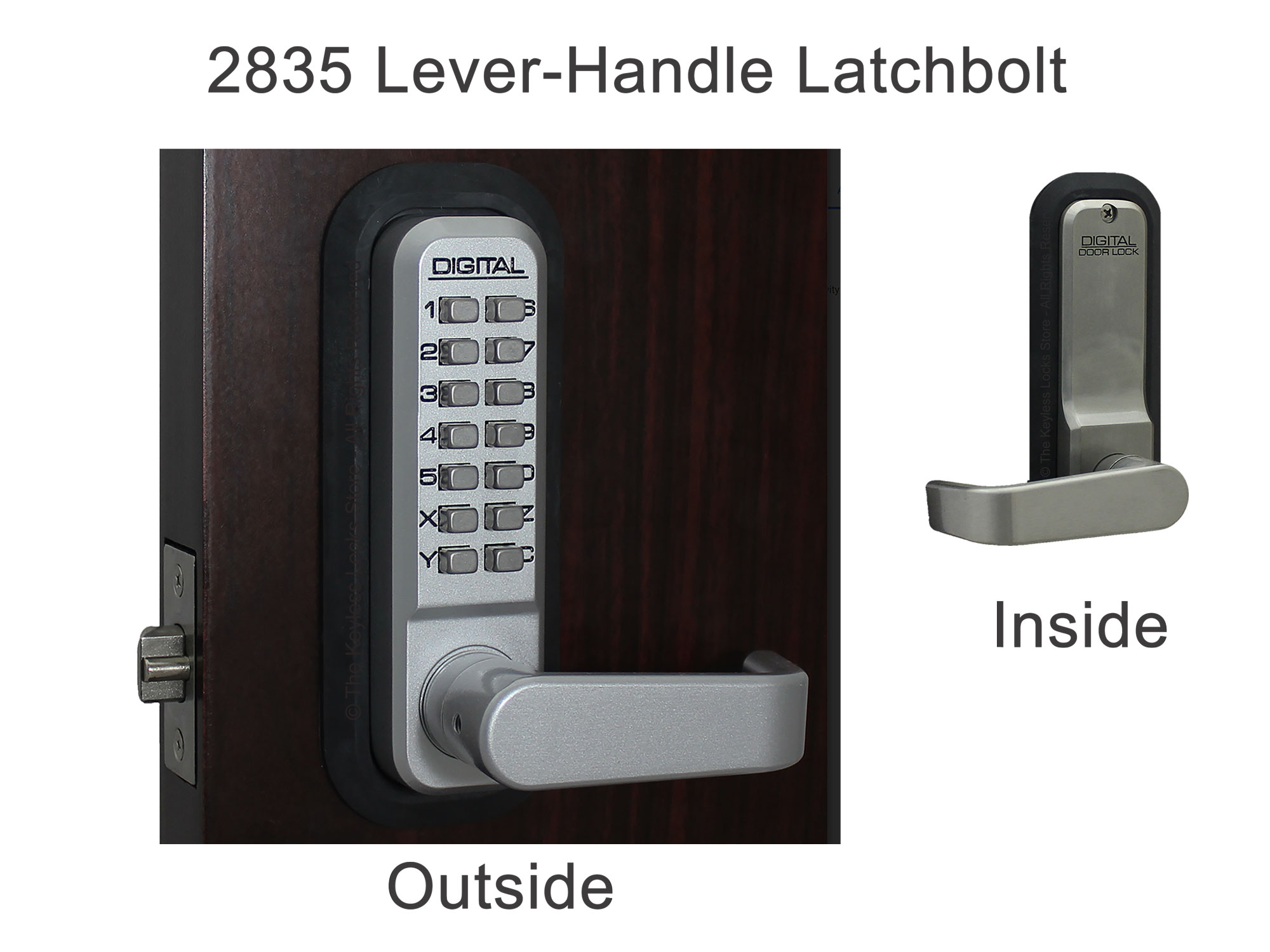 Lockey 2835 Lever-Handle Latchbolt Keypad Lock