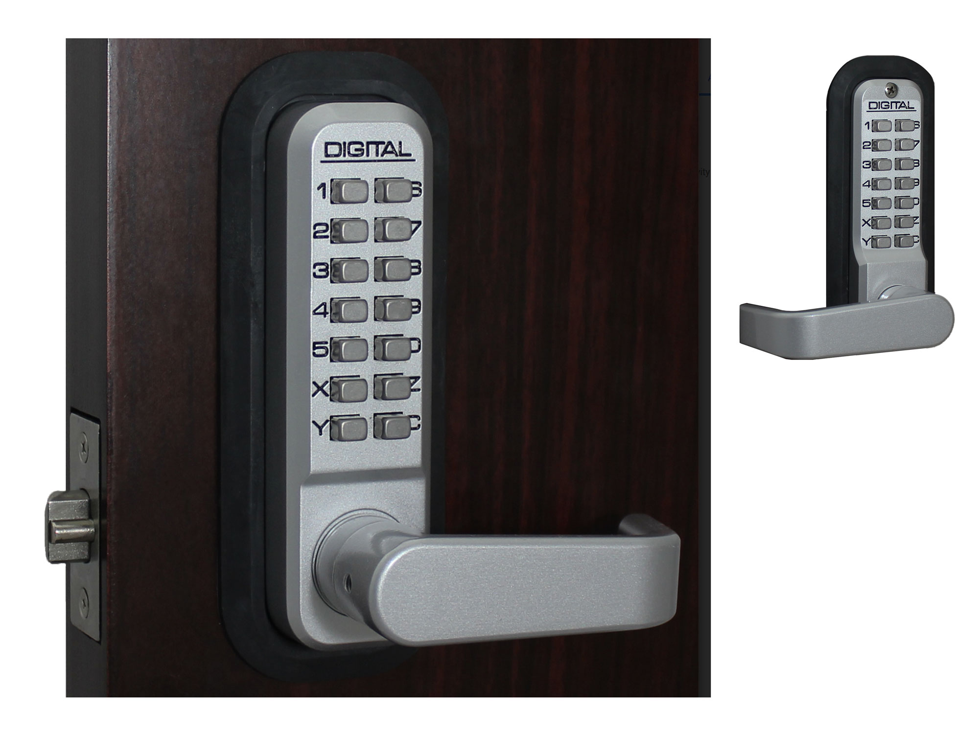 Lockey 2835DC Passage Lever-Handle Latchbolt Double-Keypad Lock