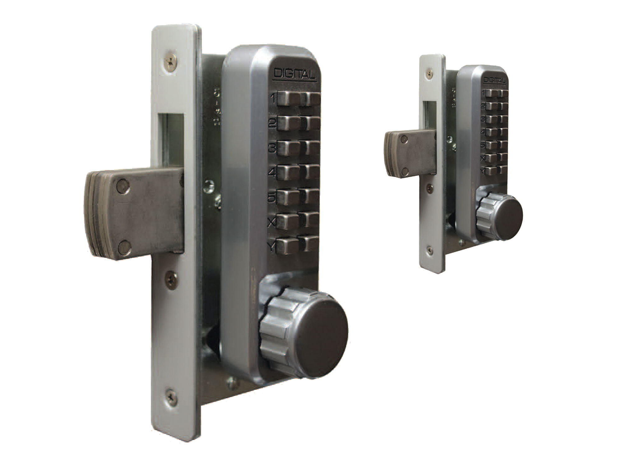 Lockey 2900DC Narrow-Stile Knob-Handle Double-Keypad Deadbolt Lock