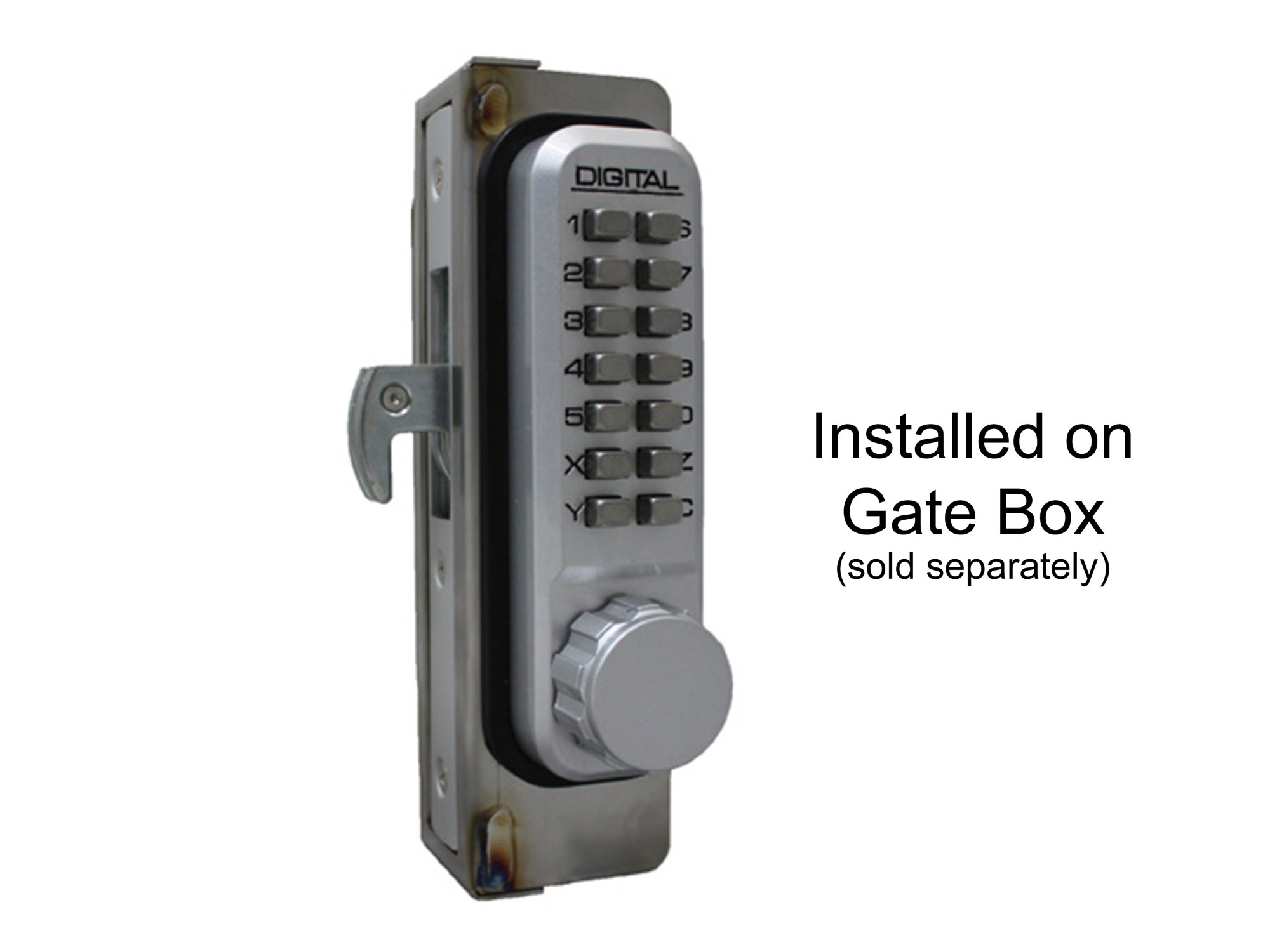 Lockey 2950 Narrow-Stile Hookbolt Keypad Lock - Click Image to Close