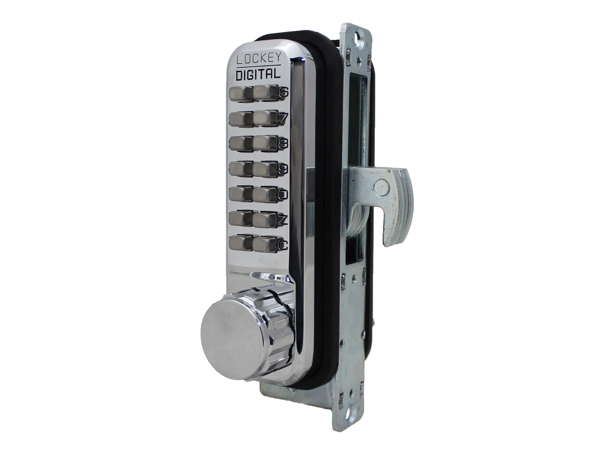 Lockey 2950DC Narrow-Stile Hookbolt Double-Keypad Lock