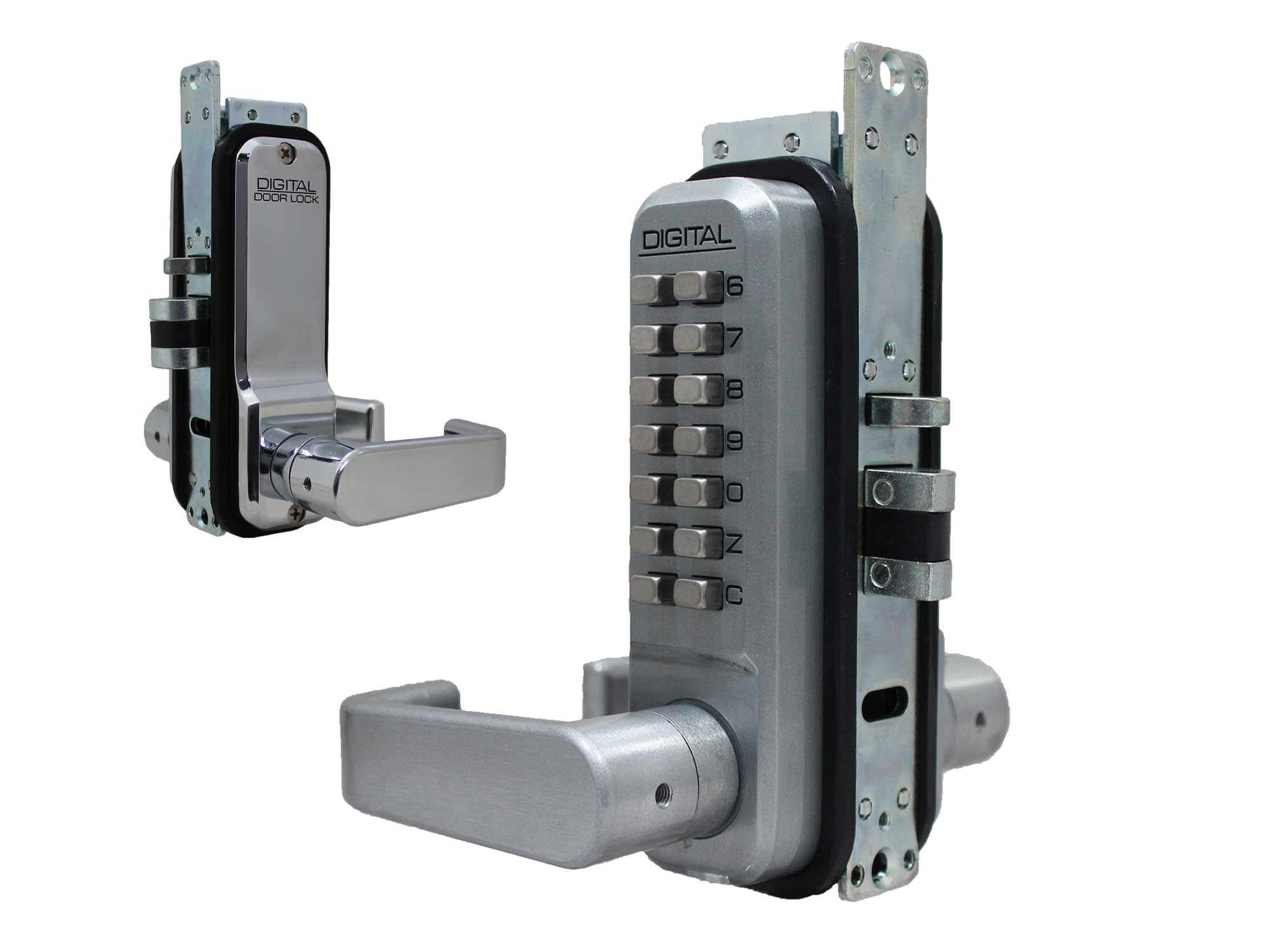 Lockey 2985 Narrow-Stile Passage Lever-Handle Latchbolt Keypad Lock
