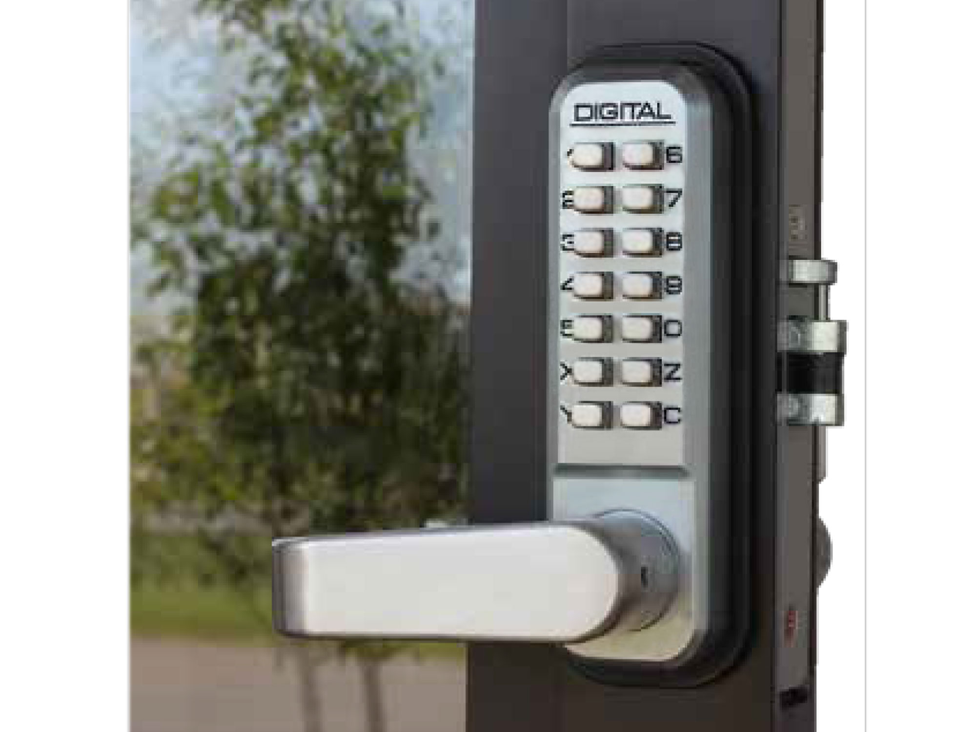 Lockey 2985 Narrow-Stile Lever-Handle Latchbolt Keypad Lock