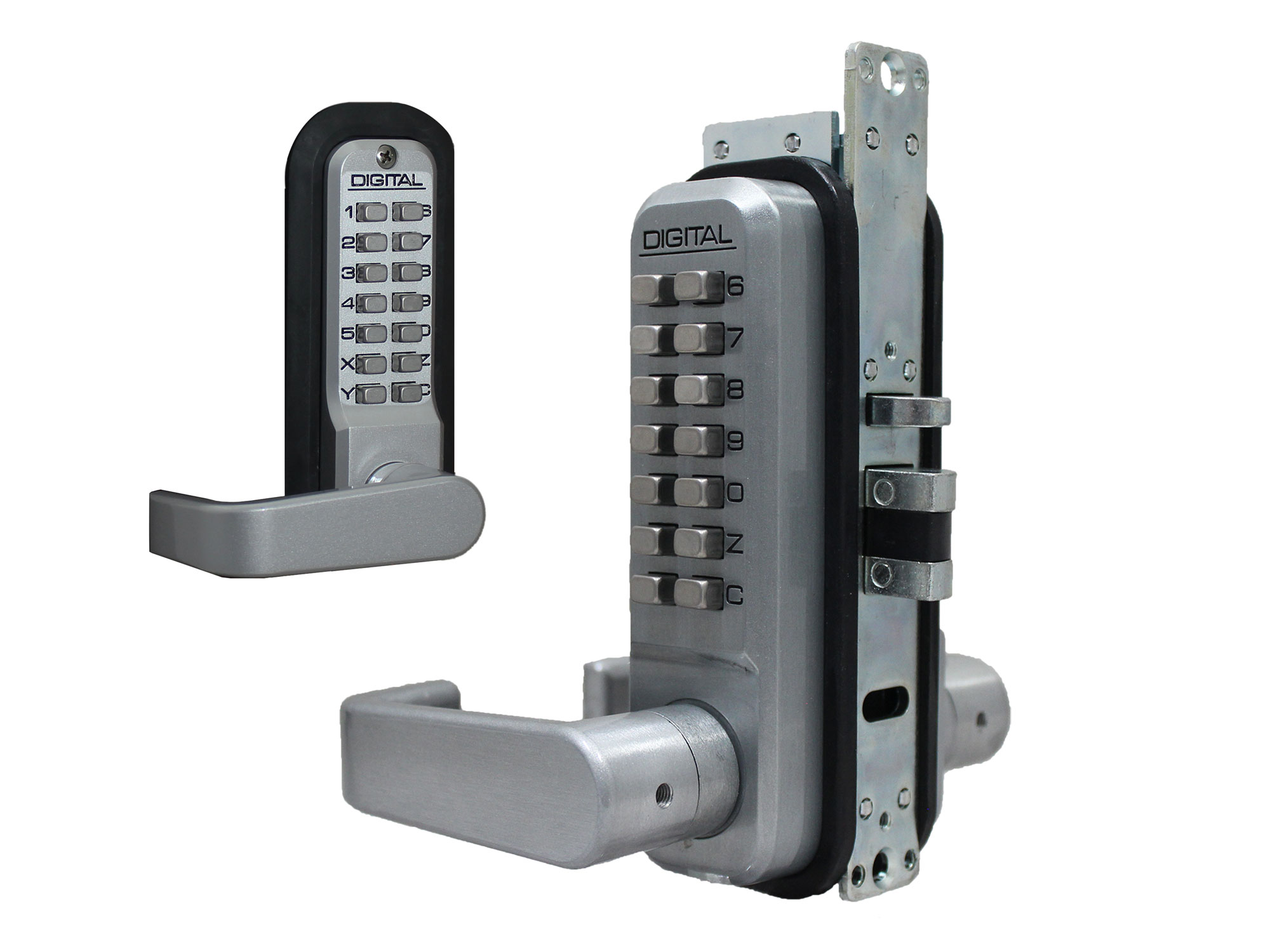 Lockey 2985DC Double-Keypad Narrow-Stile Latchbolt Keypad Lock