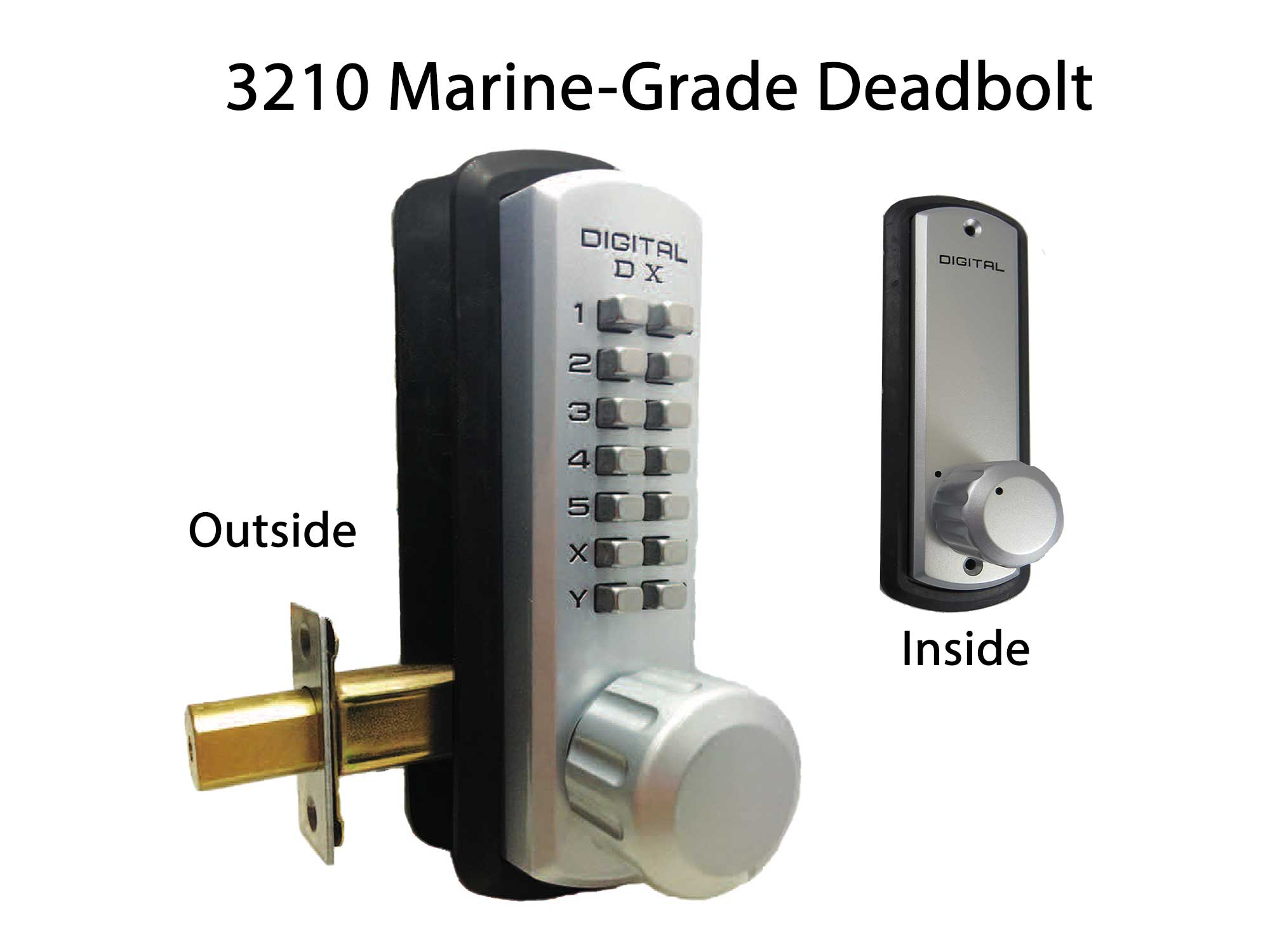 Lockey 3210 Marine-Grade Heavy-Duty Deadbolt Keypad Lock