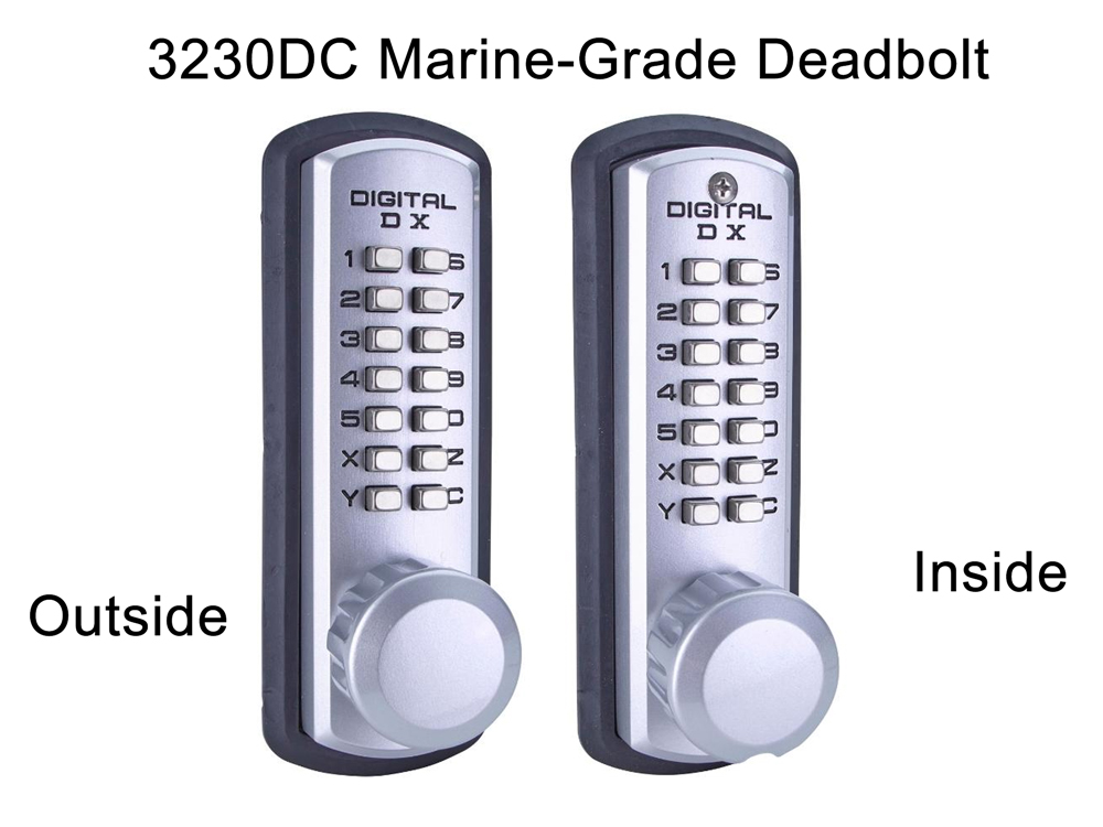 Lockey 3230DC Marine-Grade Latchbolt Double-Keypad Lock