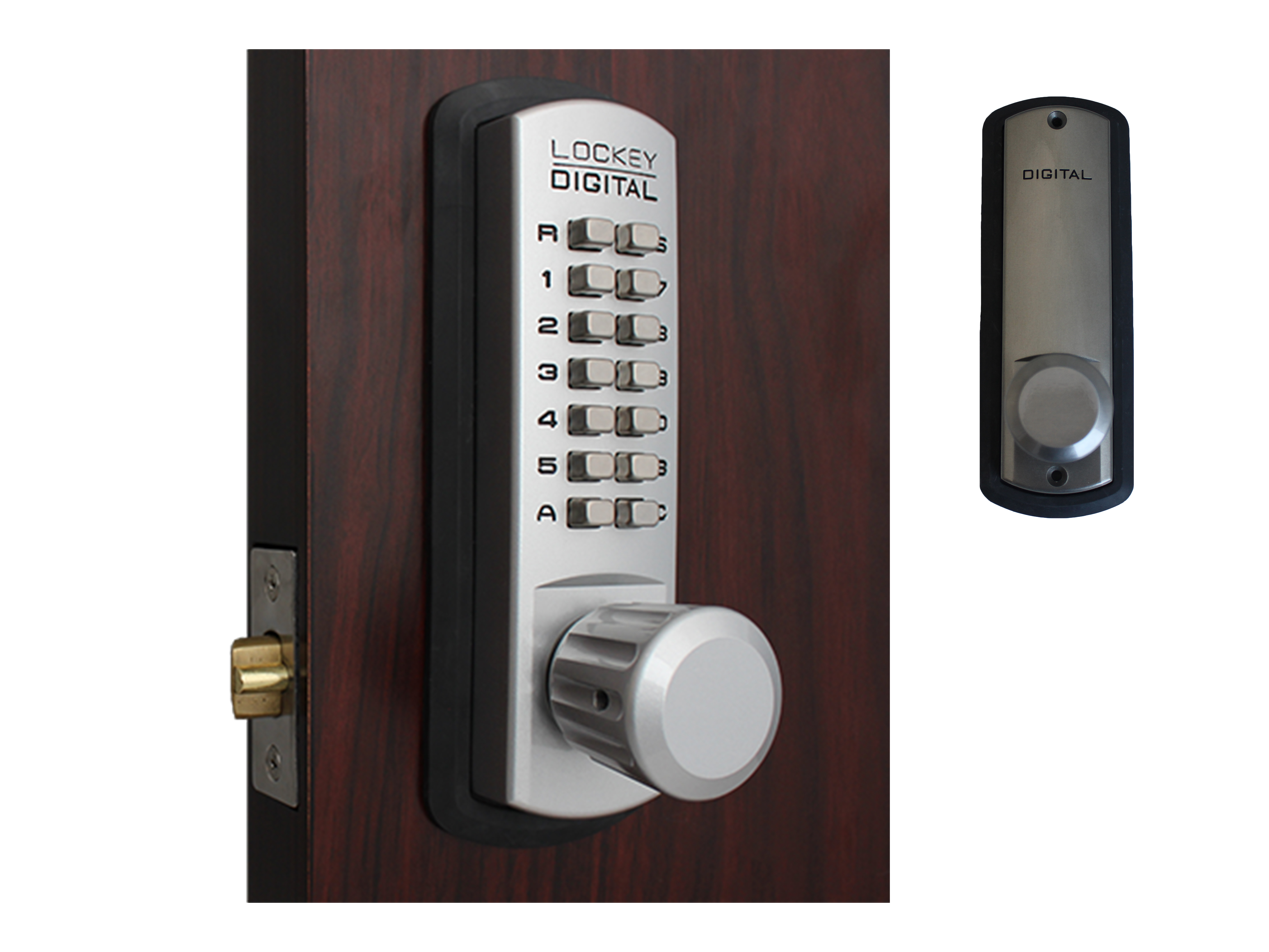 Lockey 3830 Passage Knob-Handle Latchbolt Keypad Lock