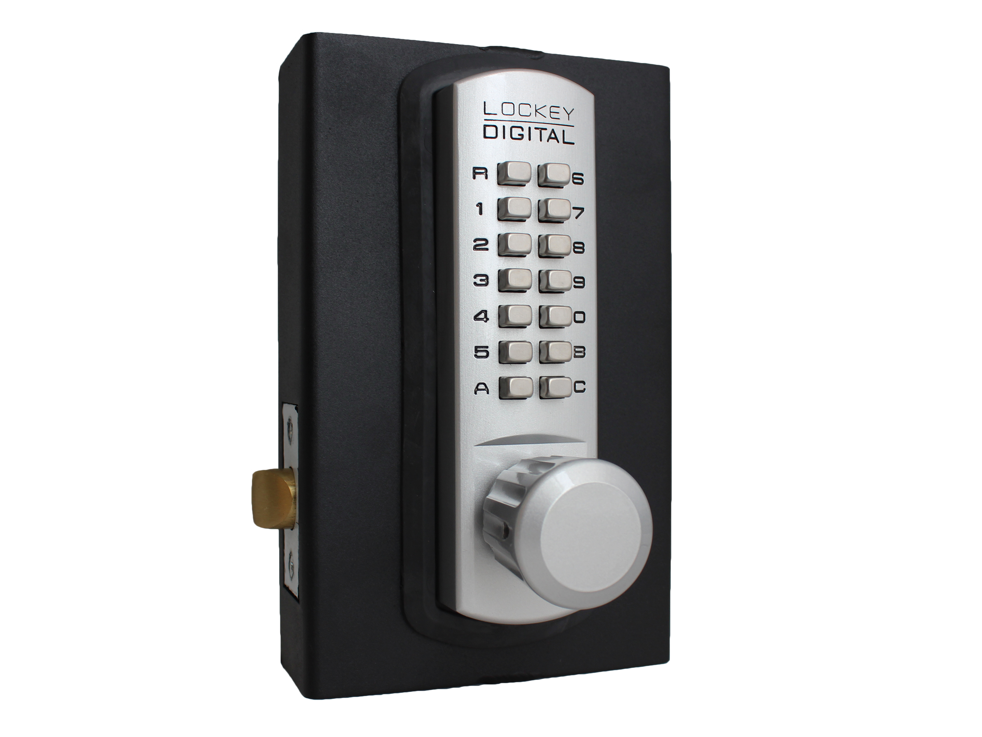 Lockey 3830DC Passage Knob Latchbolt Double-Keypad Lock