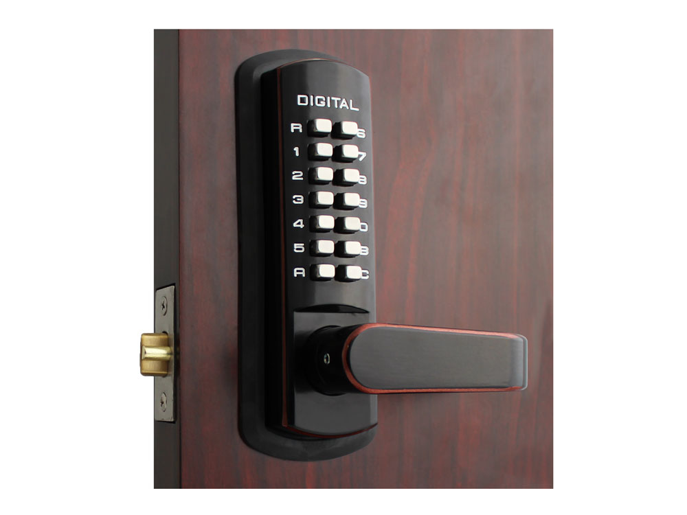 Lockey 3835DC Passage Lever Latchbolt Double-Keypad Lock - Click Image to Close