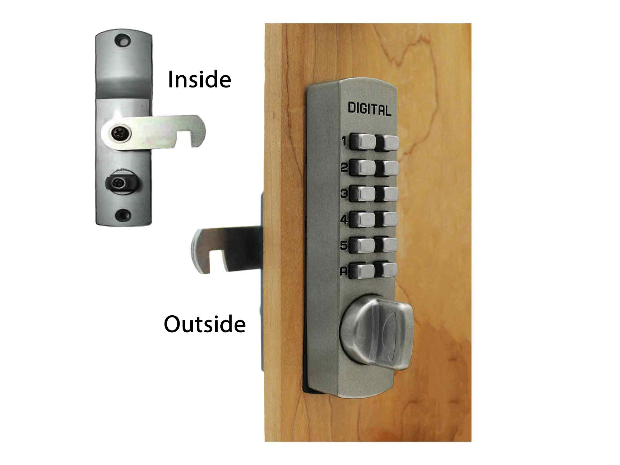 Lockey C170 Surface-Mount Cabinet Cam Lock - Click Image to Close