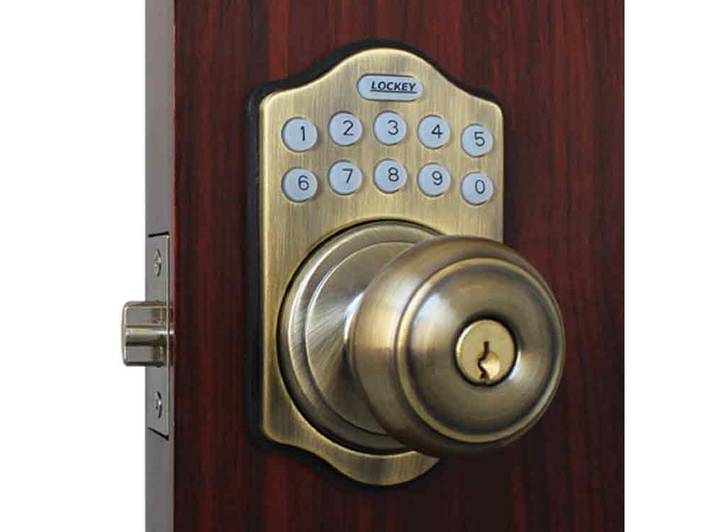 Lockey E930 Electronic Knob-Handle Latchbolt Lock with Lighted Keypad