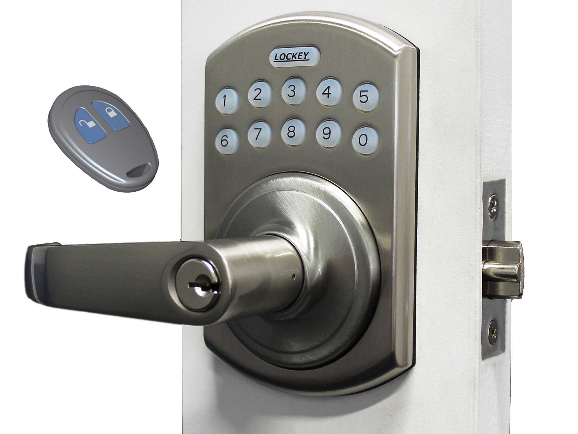 Lockey E995 Electronic Lever-Handle Latchbolt Lock with Lighted Keypad