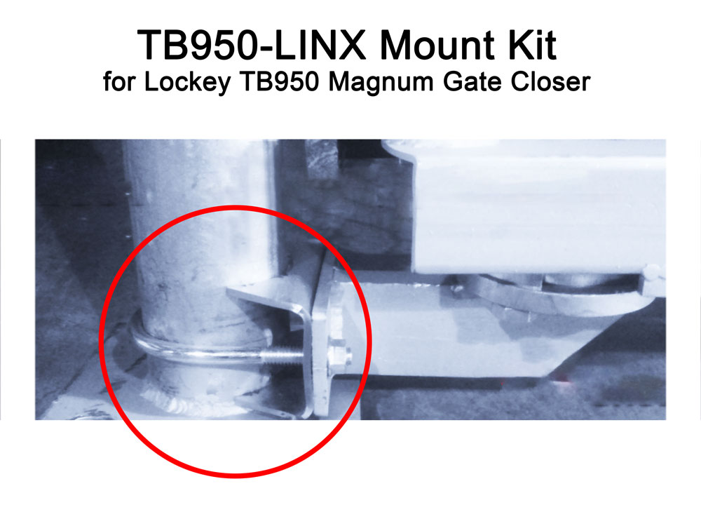 Lockey TB950-LINX Mounting Kit for Chain Link Fence Gates