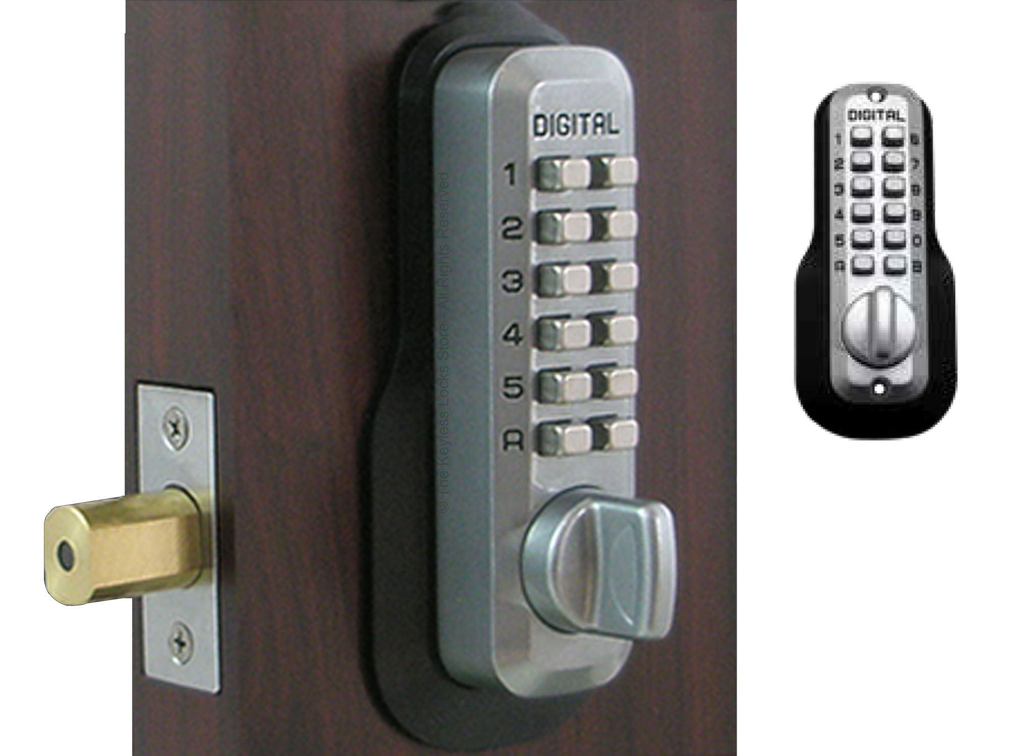 All Weather Mechanical Keyless Door Lock All Weather