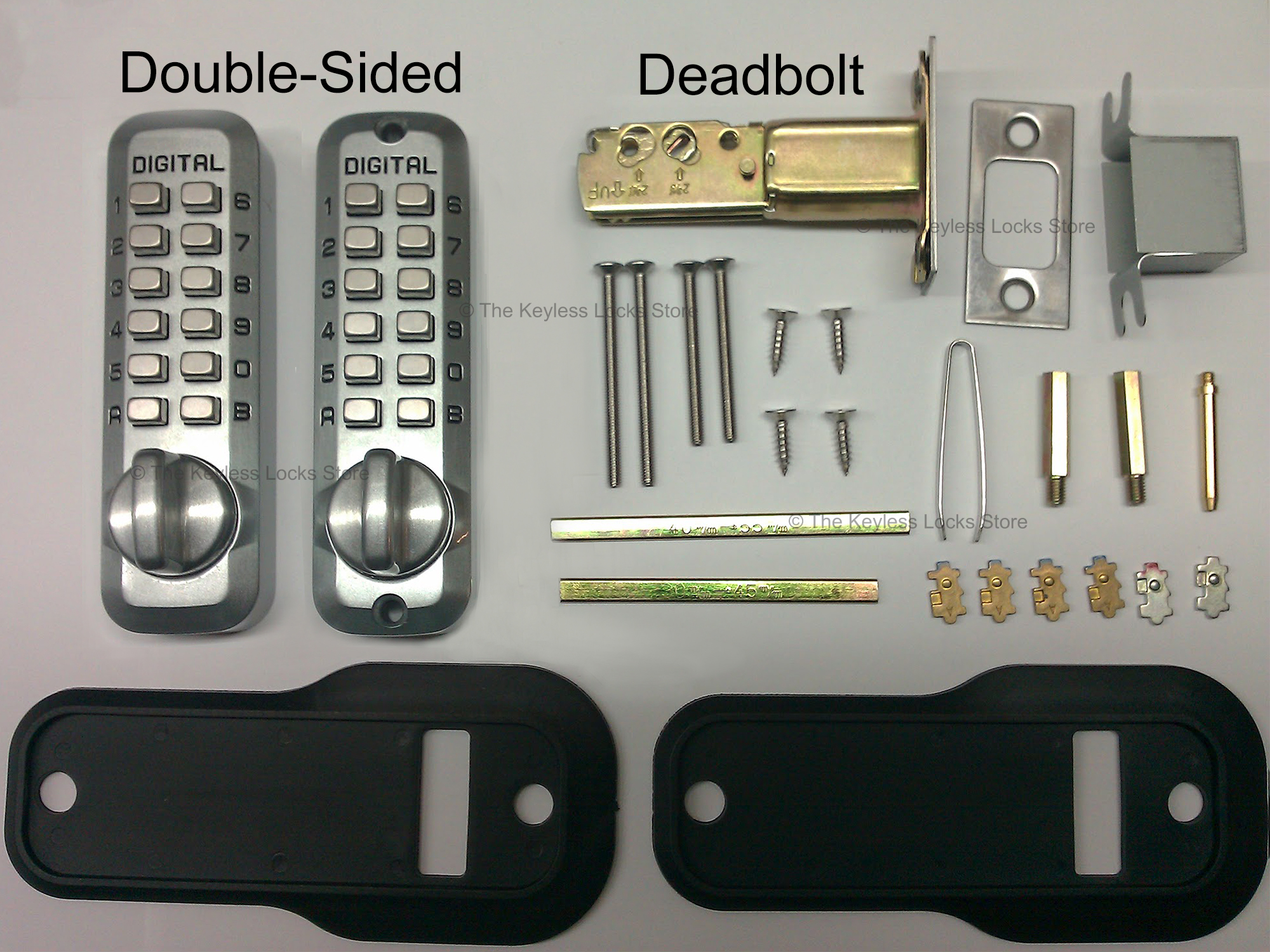 Lockey M210DC Deadbolt Double-Keypad Lock