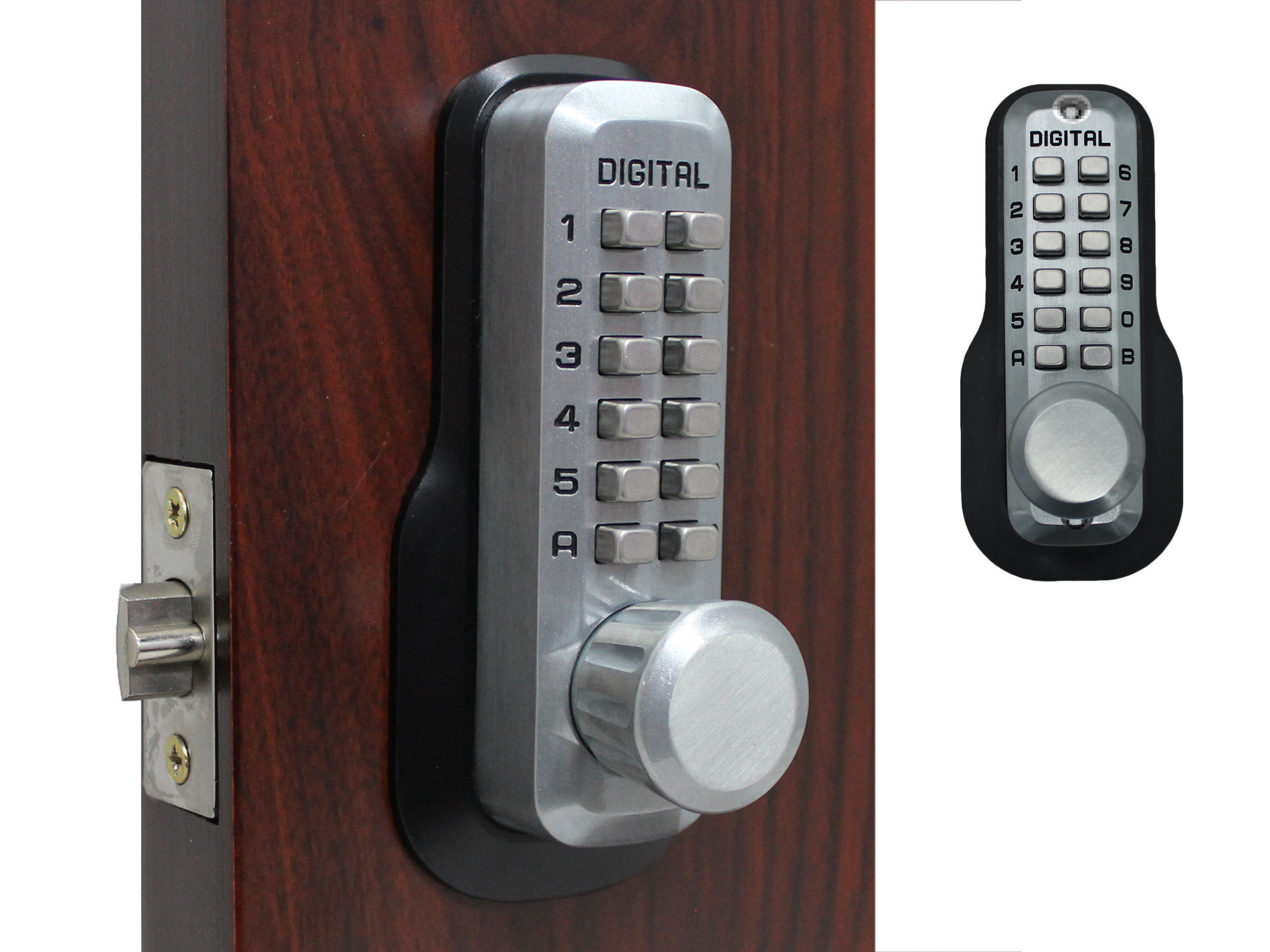 Lockey M230DC Double-Keypad Spring Latchbolt Lock