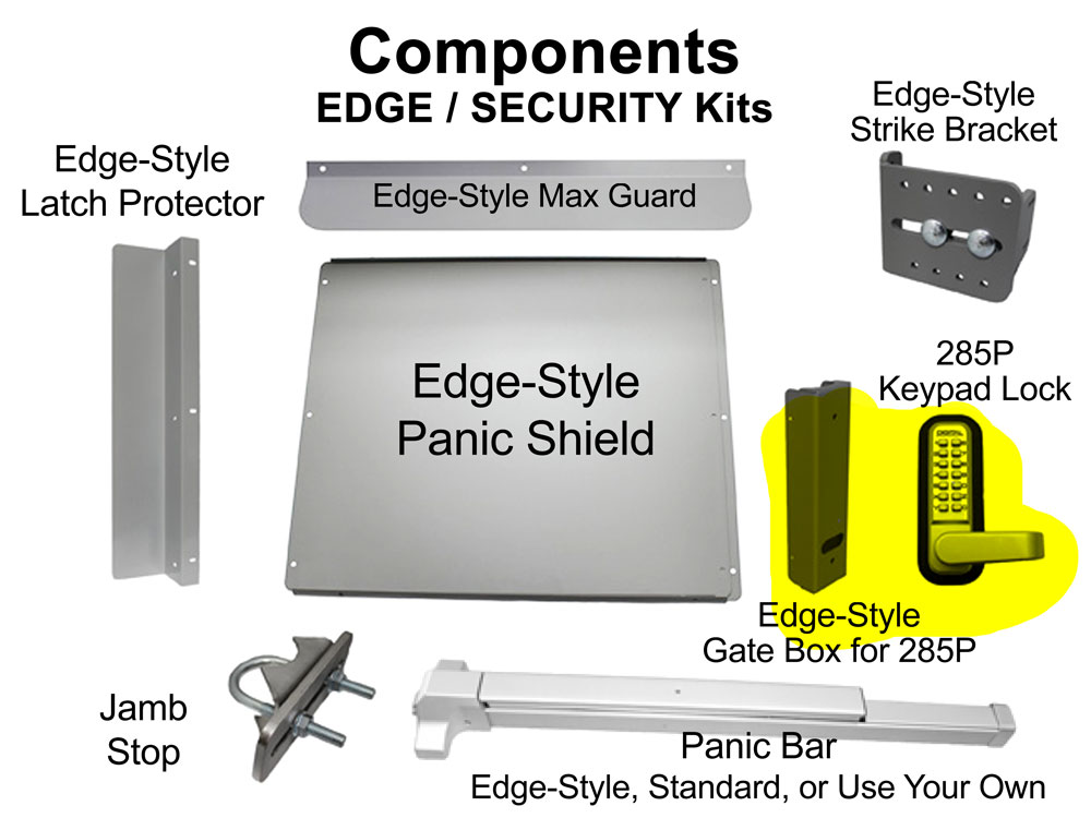 Lockey Panic Shield Kits: EDGE/SECURITY (ED60 through ED65)