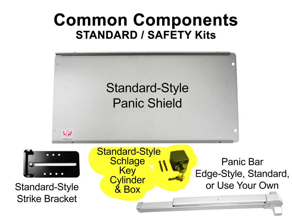 Lockey Panic Shield Kits: STANDARD/SAFETY (PS50 to PS55)