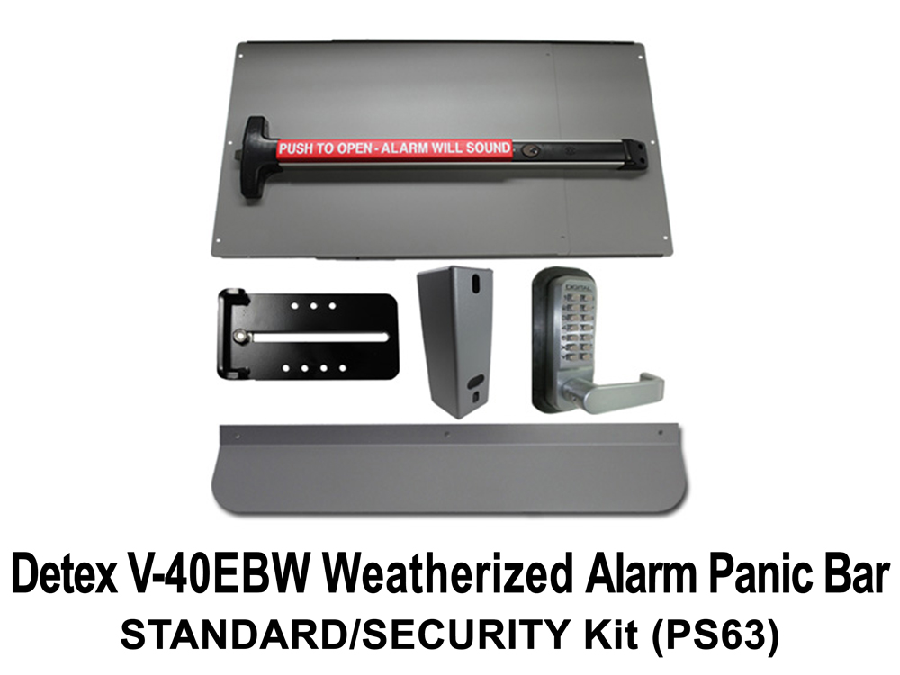 Lockey Panic Bar Shield Kits: STANDARD/SECURITY (PS60 to PS65) - Click Image to Close