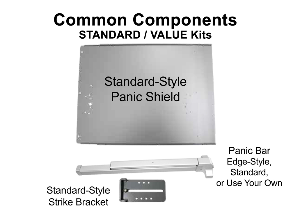 Lockey Panic Shield Kits: STANDARD/VALUE (PS40 to PS45)