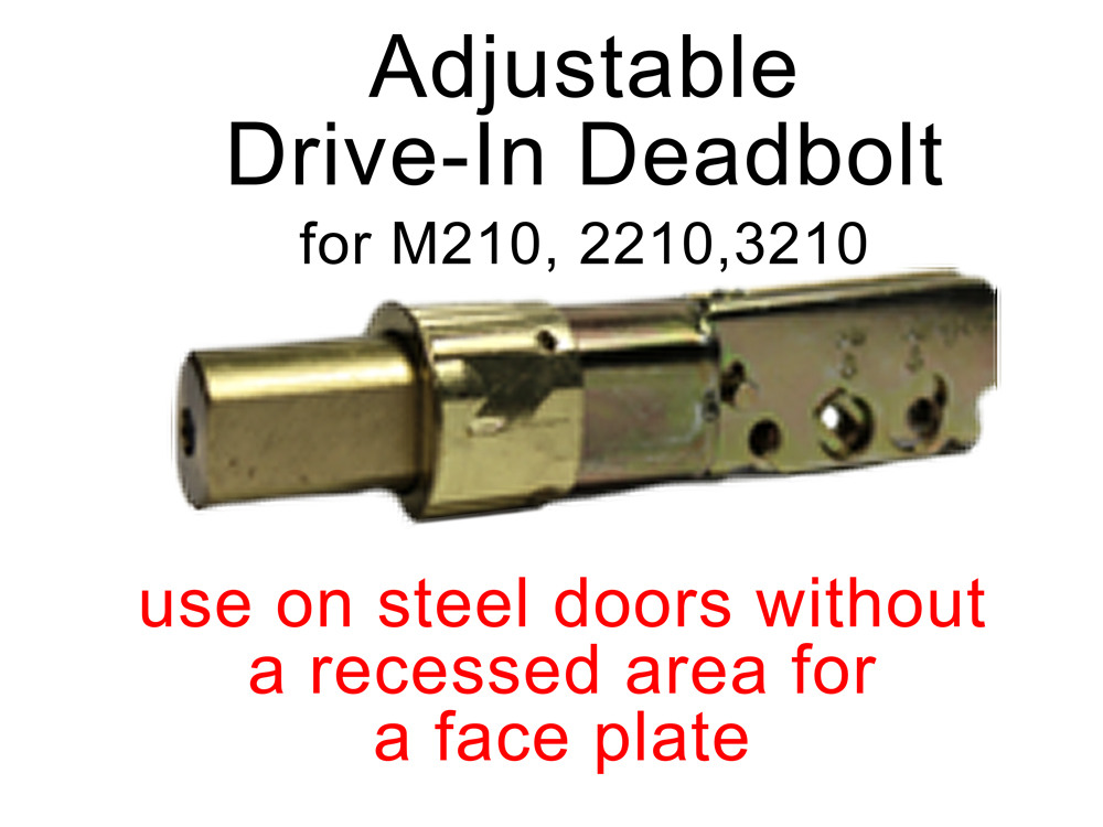 Lockey Replacement Deadbolt: Drive-In Type Adjustable w/o Faceplate for 2210, 3210, M210, Add-A-Bolt Kit