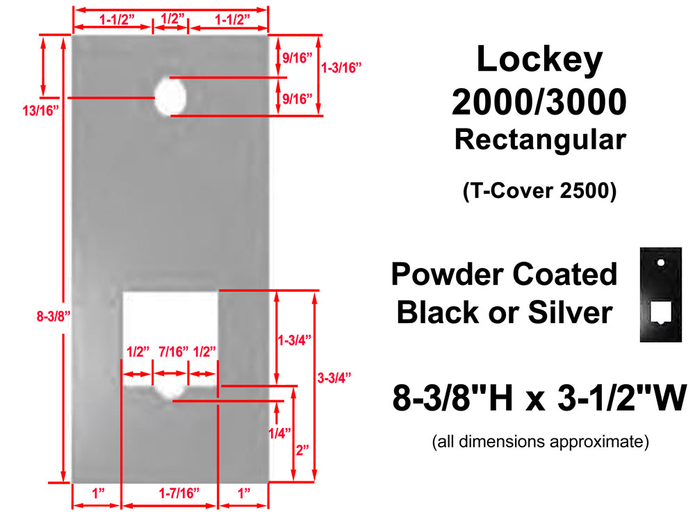 Lockey Metal Trim Plates