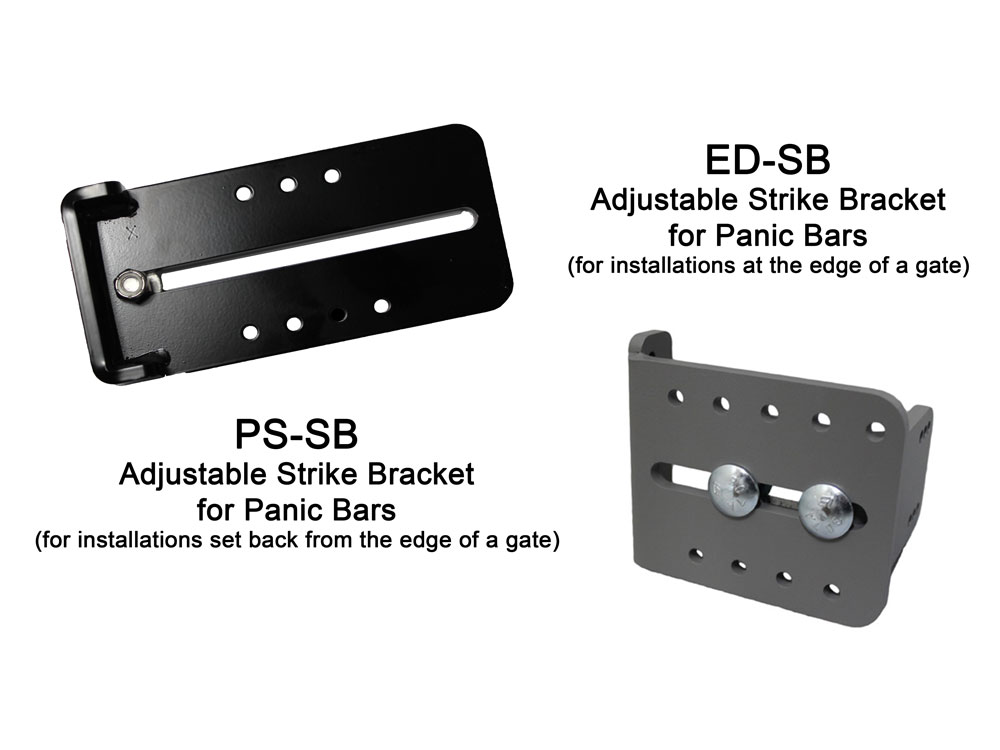 Lockey Strike Brackets for Panic Bars (ED-SB and PS-SB)