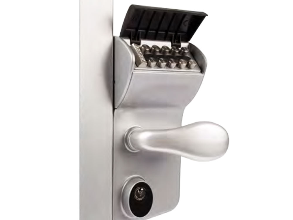 Locinox Leonardo Double-Keypad Hookbolt Lock for Sliding Gates