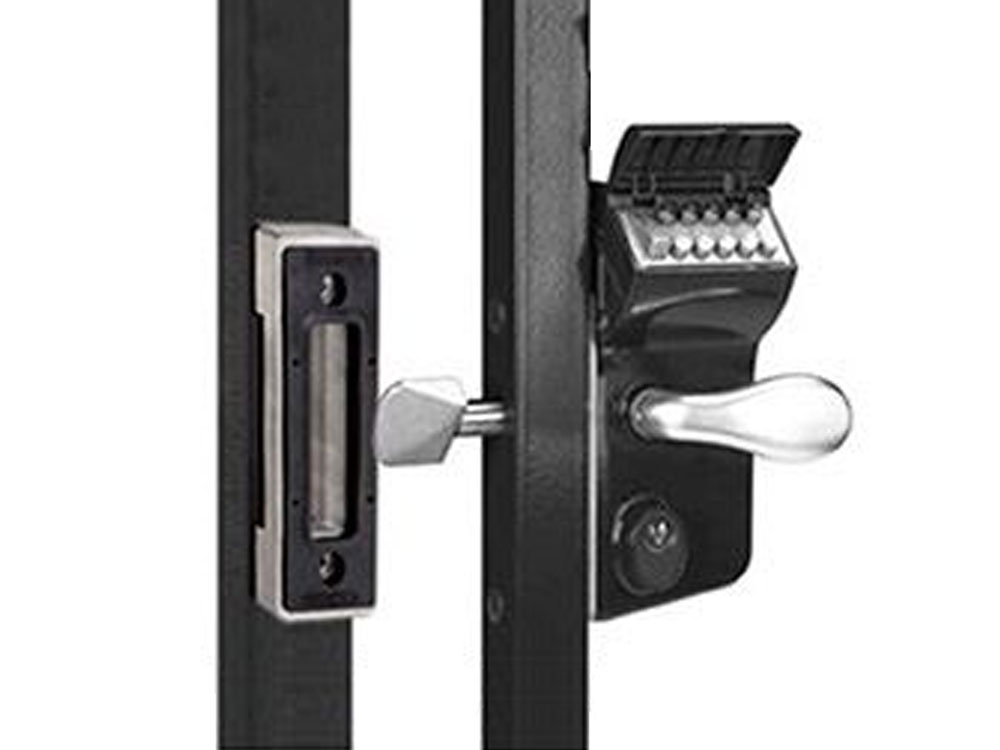 Locinox Leonardo Double-Keypad Hookbolt Lock for Sliding Gates - Click Image to Close