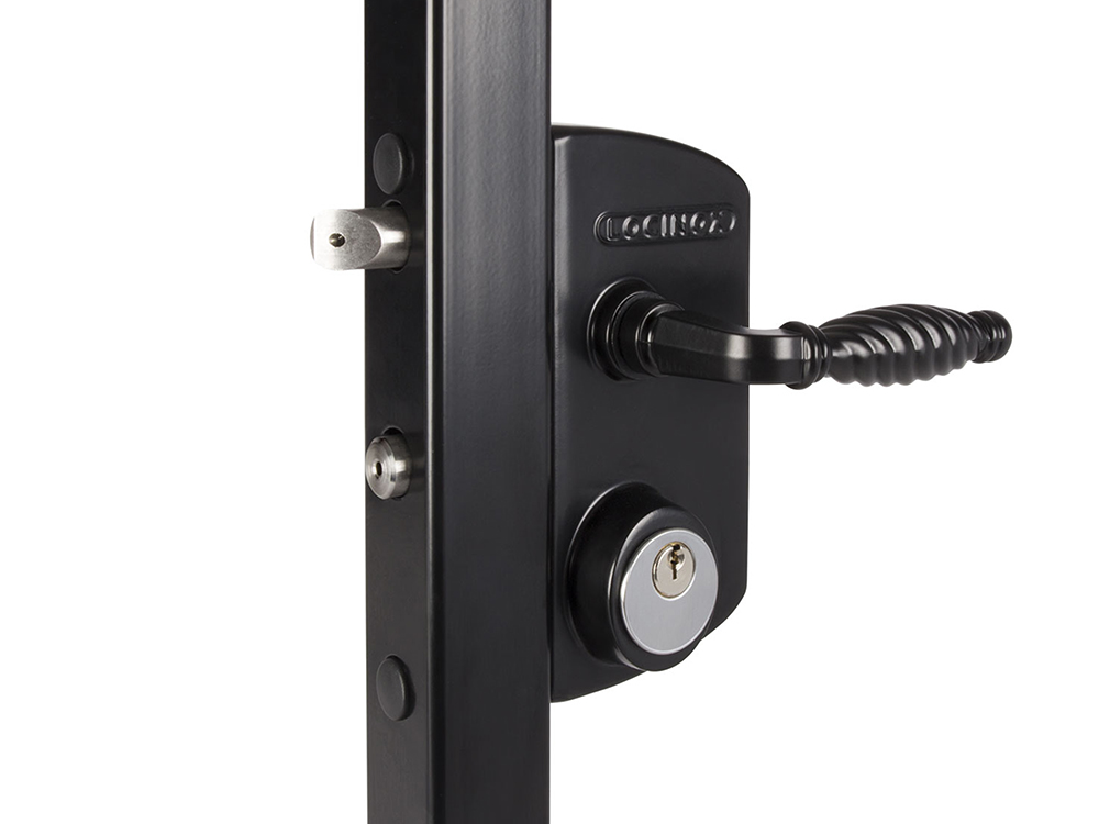 Locinox LUKY Surface-Mounted Lever-Handle Deadbolt/Latchbolt Keyed Lock for Swinging Gates