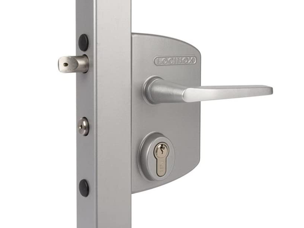 Locinox LUKY/LUPY Surface-Mounted Deadbolt/Latchbolt Combination Lever-Handle Keyed Lock