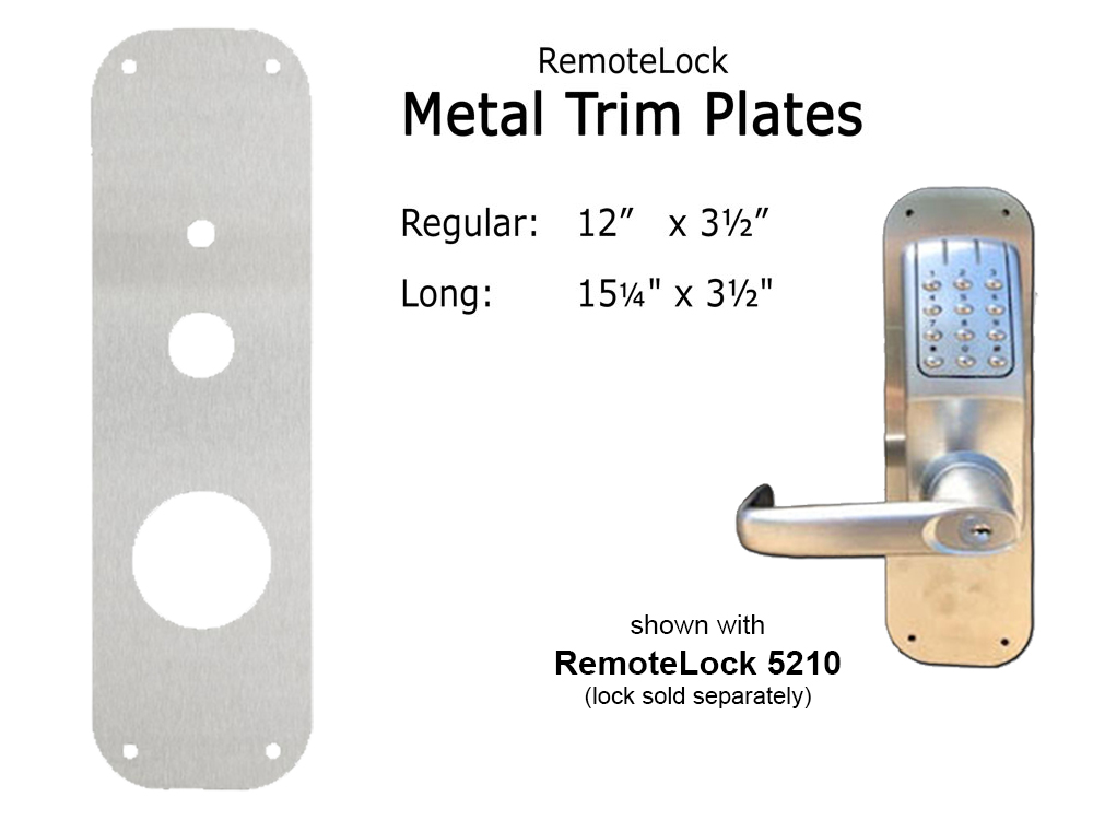 RemoteLock/ResortLock Metal Trim Plates