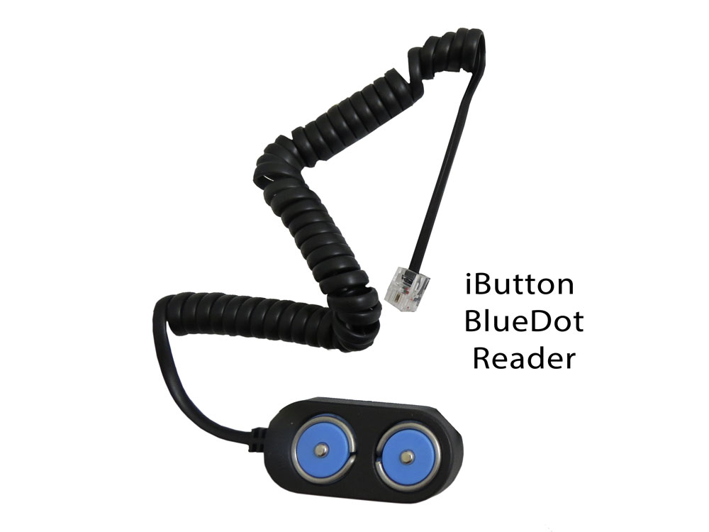 Eternity BlueDot Snap-In iButton Reader (with Coiled Cord)