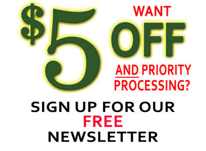 Get $5 off & Priority Processing