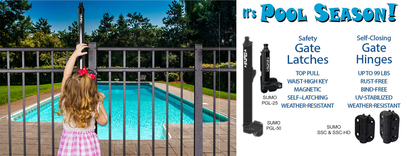 Safety Gate Latches for Pools & Pedestrian Gates