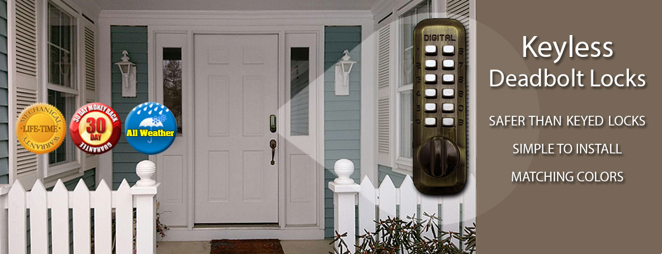 Keyless deadbolt locks that can't be picked or bumped...