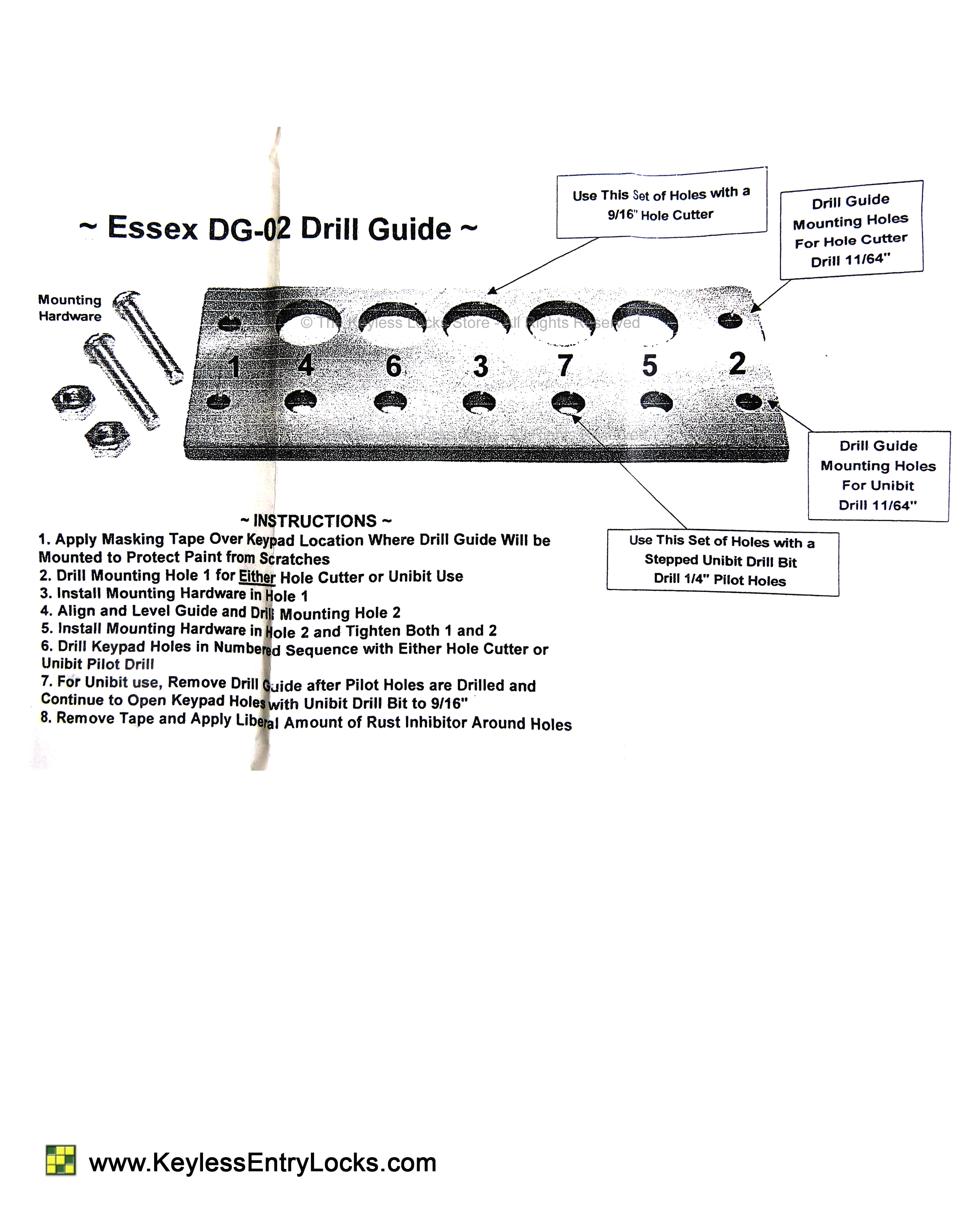 Essex Drill Guide Instructions
