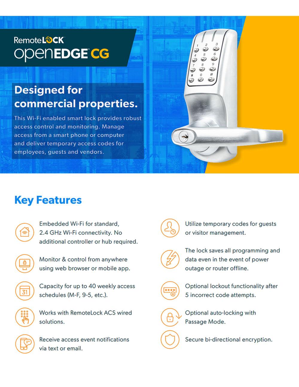 Commercial Keypad Lock | WiFi Enabled Lock | KeylessEntryLocks
