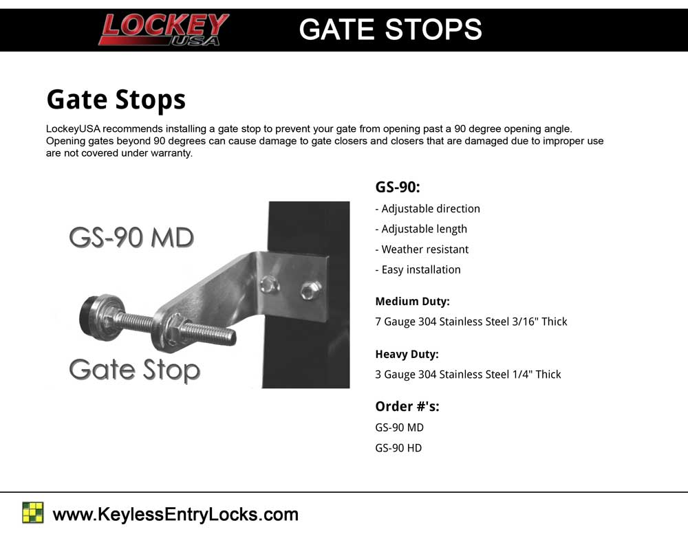 Lockey Gate Stops