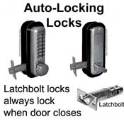 Automatic Locking--Latchbolt