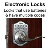 Electronic/Multi Code Locks