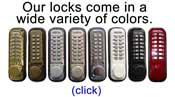 All our locks come in a variety of colors