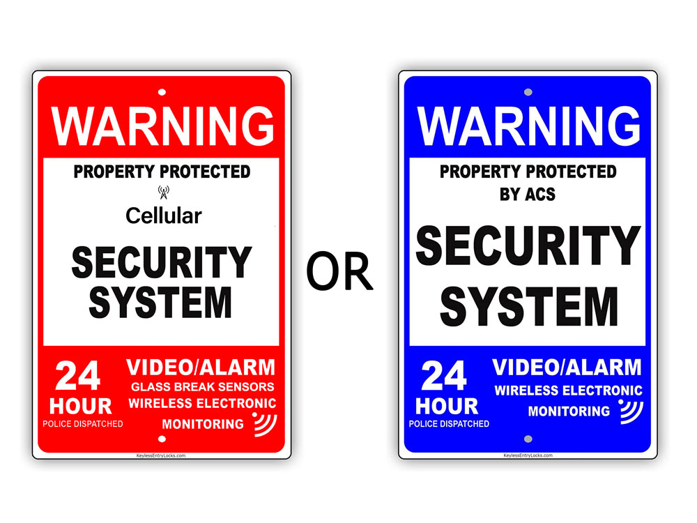 Home Security Window/Door Signs